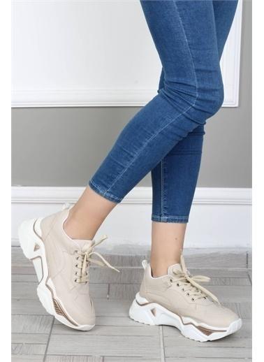 Modabuymus Modabuymus Kadın Kalın nlı Düz  Sneaker Spor Ayakkabı -Fashi Ten